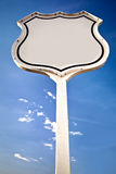 Blank road sign Interstate. Stock Image