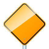 Blank road sign isolated Royalty Free Stock Photography