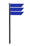 Blank road sign isolated. On white with clipping path Royalty Free Stock Photography