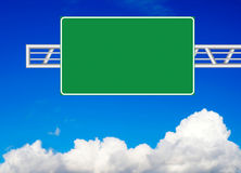 Blank road sign. Over blue sky Stock Photography