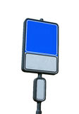 Blank road sign with a place for a picture or text. Blank and isolated road sign (blue&white) with a place for a picture or text. Clipping path included Stock Image