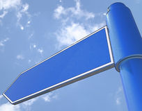 Blank Road Sign Shows Copy space For Message Royalty Free Stock Image