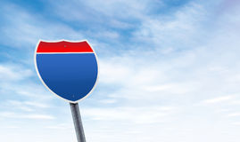 Blank road sign with sky copy space Stock Image