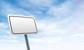 Blank road sign with sky copy space Stock Photography