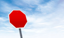 Blank road sign with sky copy space Royalty Free Stock Photography