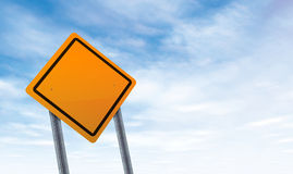 Blank road sign with sky copy space Royalty Free Stock Images