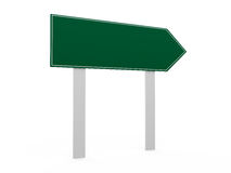 Blank Road Sign Template Stock Photo