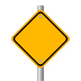 Blank road sign. Vector illustration Royalty Free Stock Photos