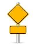 Blank road sign Stock Image