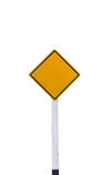 Blank road sign. On white background,isolated with clipping path Royalty Free Stock Photography