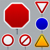 Blank road signs. Vector illustration of blank road signs. Very easy changes in vector file Royalty Free Stock Image