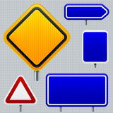 Blank road signs. Vector illustration of blank road signs. Very easy changes in vector file Stock Photos