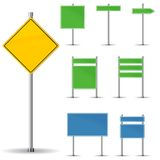 Blank road signs. Board and arrow Stock Photography