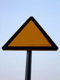 Blank road warning sign Royalty Free Stock Photo