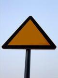 Blank road warning sign. Blank yellow road warning sign Royalty Free Stock Photo