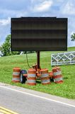 Blank Roadside Electronic Traffic Control Sign. Vertical shot of a blank roadside electronic traffic control sign Stock Photography