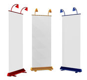 Blank roll up banner display Stock Photography