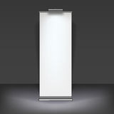 Blank roll up banner display Royalty Free Stock Image