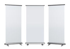 Blank roll up banner display Stock Images