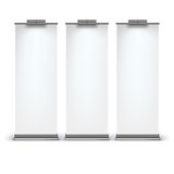 Blank roll up banner display Royalty Free Stock Photo