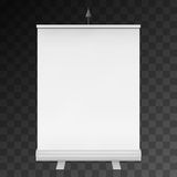 Blank Roll Up Banner Stand. Vector Stock Photo