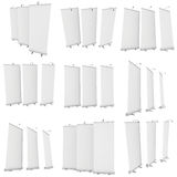Blank Roll Up Banner Stands Stock Image