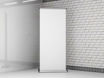 Blank roll up banner. Template mockup. 3D Royalty Free Stock Photography