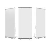 Blank Roll Up Display Banner Stock Photos