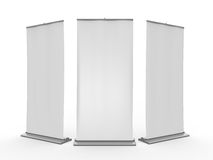 Blank Roll Up Display Banner. On white background royalty free illustration