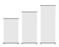 Blank roll-upbanerskärm royaltyfri illustrationer