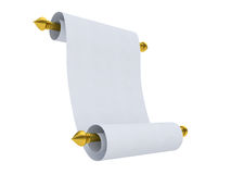 Blank Rolled paper Royalty Free Stock Photography