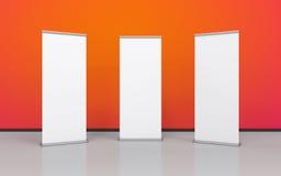 Blank roller banner set Stock Photo