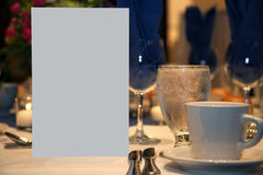 Blank Romantic Dinner Invite. Romantic Dinner Invitation with Blank Card for Text Stock Image