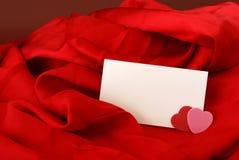 Blank Romantic Notecard Royalty Free Stock Photos