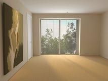 Blank room with gobelin. Stock Photo