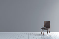 Blank room with vintage chair 3d illustration Stock Photo