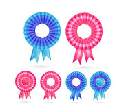 Blank Rosette Seal Set Royalty Free Stock Images
