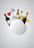 Blank round food Stock Photography