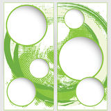 Blank round web template on green grunge background Royalty Free Stock Image
