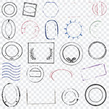 Blank rubber stamps Royalty Free Stock Images