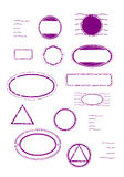 Blank rubber stamps set. Set of blank rubber stamps templates. Vector elements on white background Stock Image