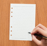 Blank ruled school sheet paper Royalty Free Stock Image