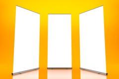 blank rulle tre för baner vektor illustrationer