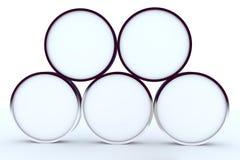blank rundad askskärm fem Arkivbild