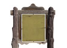 Blank Rustic Western Sign Stock Images