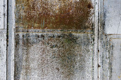 Blank rusty metal wall Royalty Free Stock Photos