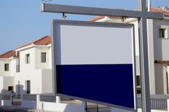 Blank for sale board. New build royalty free stock photos