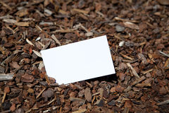 Blank sample for business card or tag Royalty Free Stock Photography