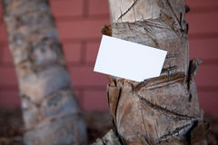 Blank sample for business card or tag Royalty Free Stock Image