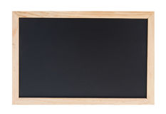 A blank school black board on white background. Stock Image